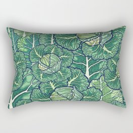 dreaming cabbages Rectangular Pillow