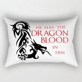 He Has The Dragon Blood Rectangular Pillow