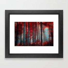 Magical trees Framed Art Print