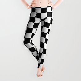Black and White Checkerboard Pattern Leggings