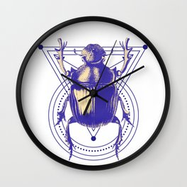 Beetle and geometric Wall Clock