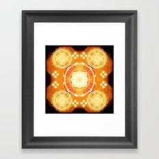 Fire illusion Framed Art Print