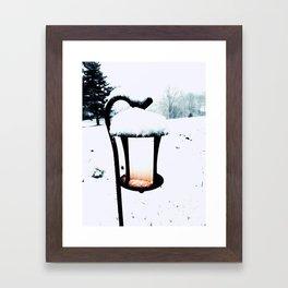 Brighten the snow Framed Art Print
