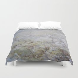 White Blossom Flowers Duvet Cover
