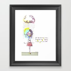 Rain on me... Framed Art Print
