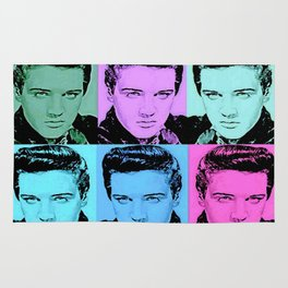 ELVIS : Fine Art Colorful Collage Print Rug