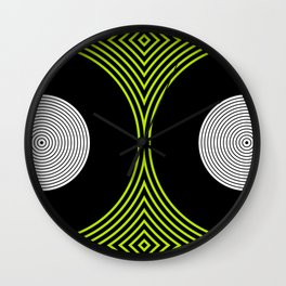 Colour Pop Circles - Lime Green Wall Clock
