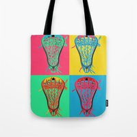 lacrosse Tote Bags featuring Lacrosse BIG4 by YouGotThat.com