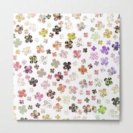 Floral St Patrick's Clovers Metal Print