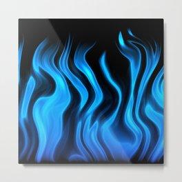 Blue flame art Metal Print