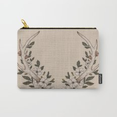 Floral Antler Carry-All Pouch