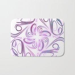 Lilac filigree Bath Mat