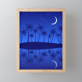 Blue Island Starry Sky Framed Mini Art Print