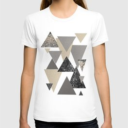 Geometric Triangles Glitter Dream #2 #minimal #decor #art #society6 T-shirt