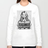 kate moss Long Sleeve T-shirts featuring Kate Moss by loveme