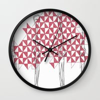 bones Wall Clocks featuring bones by smurfmonster