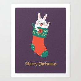 Merry Christmas Human! Art Print