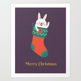 Merry Christmas Human! Art Print