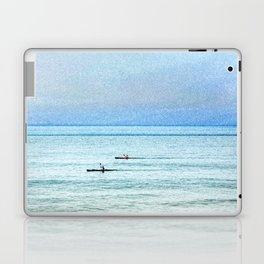 Seascape with kayaks watercolor Laptop & iPad Skin