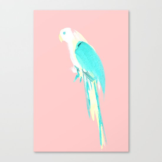 Summer Parrot Canvas Print