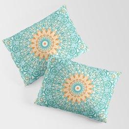 Orange and Turquoise Clarity Mandala Pillow Sham