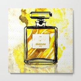 Parfum Gold Metal Print