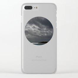 Cloudy island Clear iPhone Case