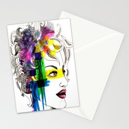 splatter in my face Stationery Cards