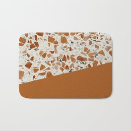 Terrazzo Texture Antique Mustard #3 Bath Mat