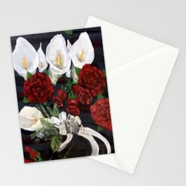 Lillies ad Roses Stationery Cards