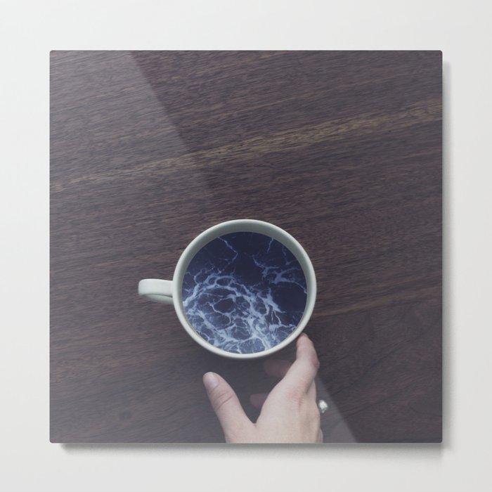 Wait & Sea Metal Print
