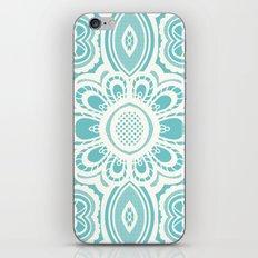 Lace Floral: Aqua Marina Ivory iPhone & iPod Skin