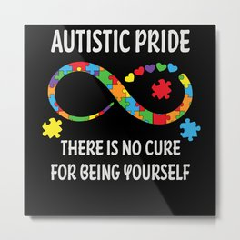Autism Infinity Symbol Pride Heart Awareness Metal Print