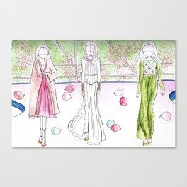 Paris Haute Couture gowns Canvas Print