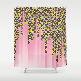 Fading Triangles Shower Curtain