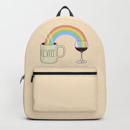 Coffee & Wine at the Ends of the Rainbow Backpack
