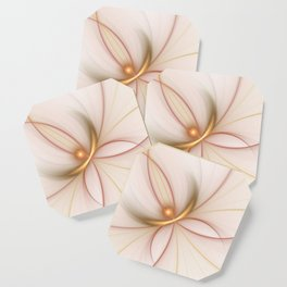 Nobly In Gold And Copper, Fractal Art Coaster