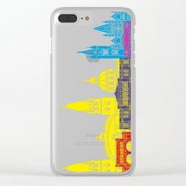 Guadalajara MX skyline pop Clear iPhone Case