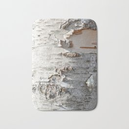 Full frame of birch bark tree detailed texture in close-up Bath Mat