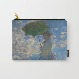 Claude Monet  -  Woman With A Parasol   Madame Monet And Her Son Carry-All Pouch