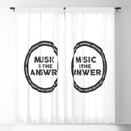 Music is The Answer, house music anthem Blackout Curtain