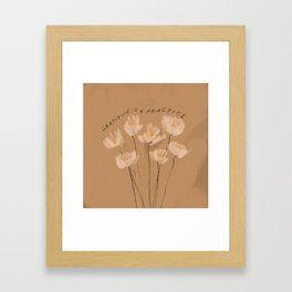 Gratitude Is A Practice Framed Art Print