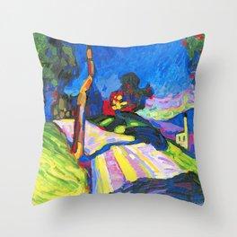 Wassily Kandinsky - Murnau - Kohlgruberstraße Throw Pillow
