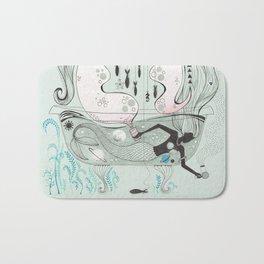 Mermaid in a bathtub. Bath Mat