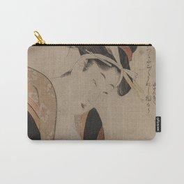Japanese Art Print - Kitagawa Utamaro - Woman Writing (1780s) Carry-All Pouch