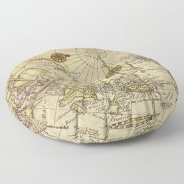 Map Of North Pole 1800 Floor Pillow