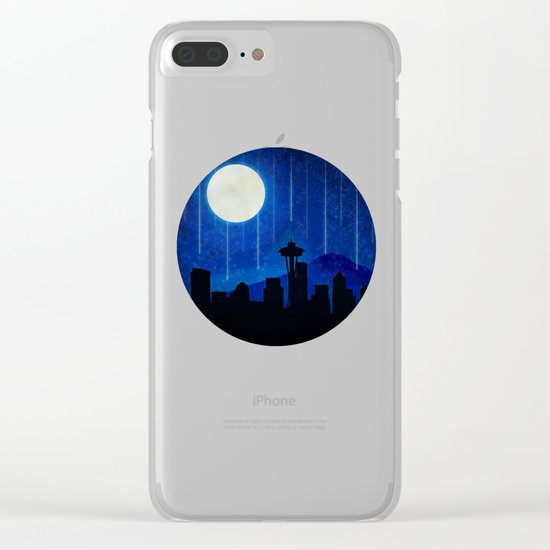 Sleepless Seattle Clear iPhone Case
