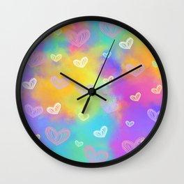 Colorful Heart Drawings Ver.1 Wall Clock