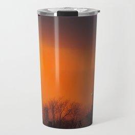 Foggy Portland Sunset (3) Travel Mug