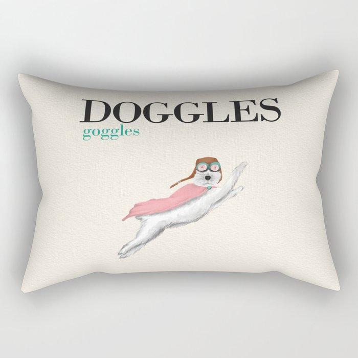 Doggles Rectangular Pillow